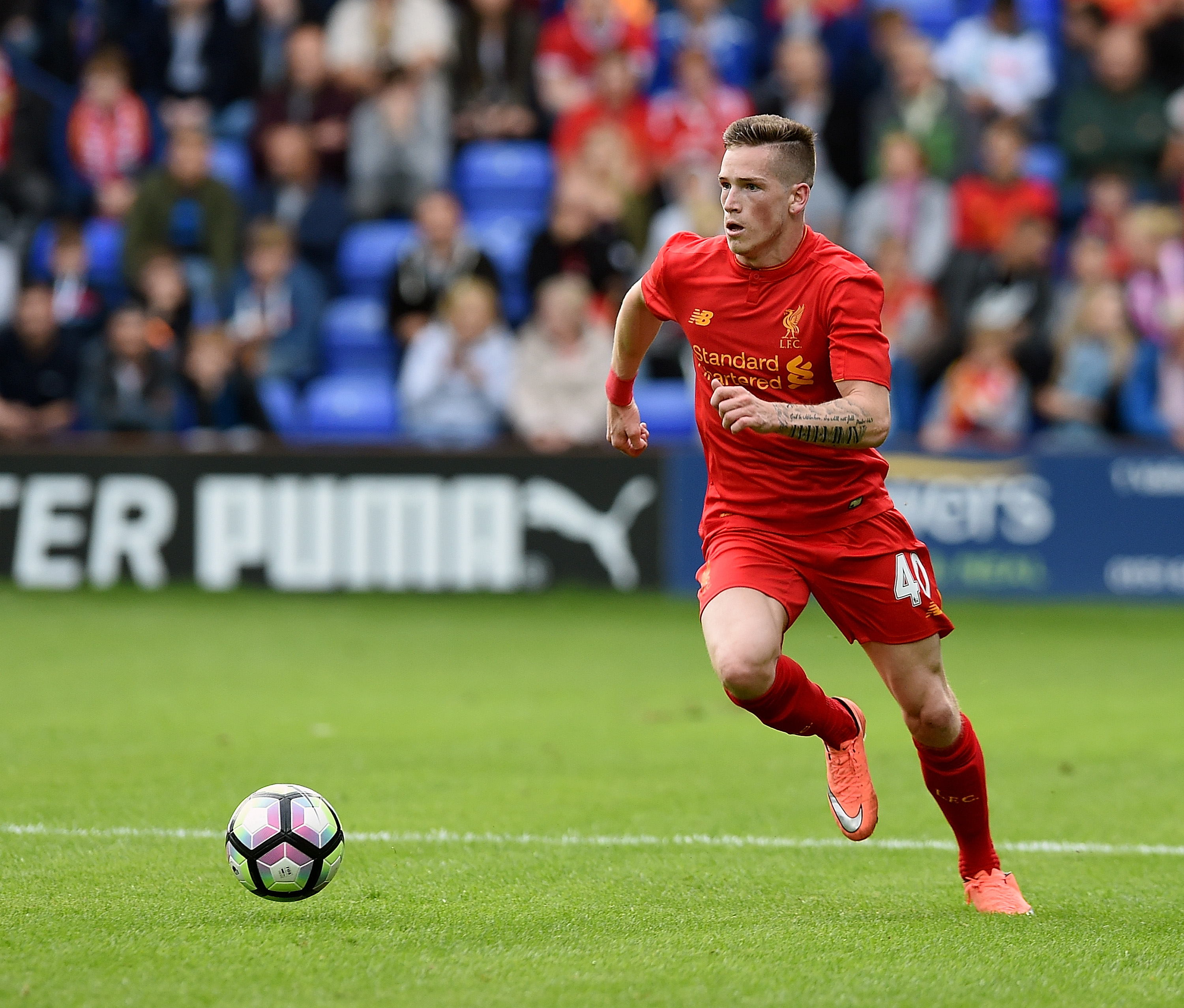 Liverpool's Ryan Kent.