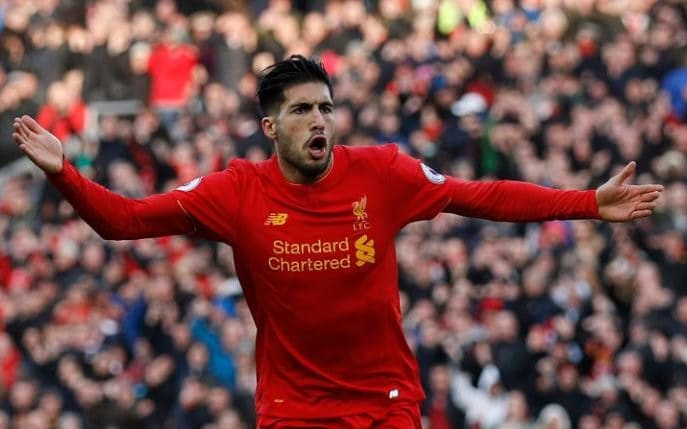 Liverpool midfielder Emre Can.