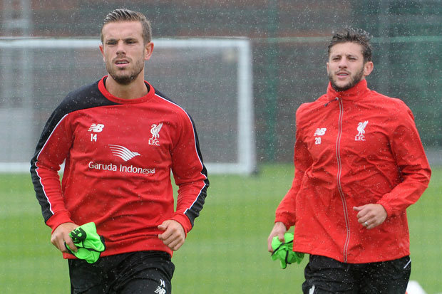 Jordan Henderson And Adam Lallana Of Liverpool
