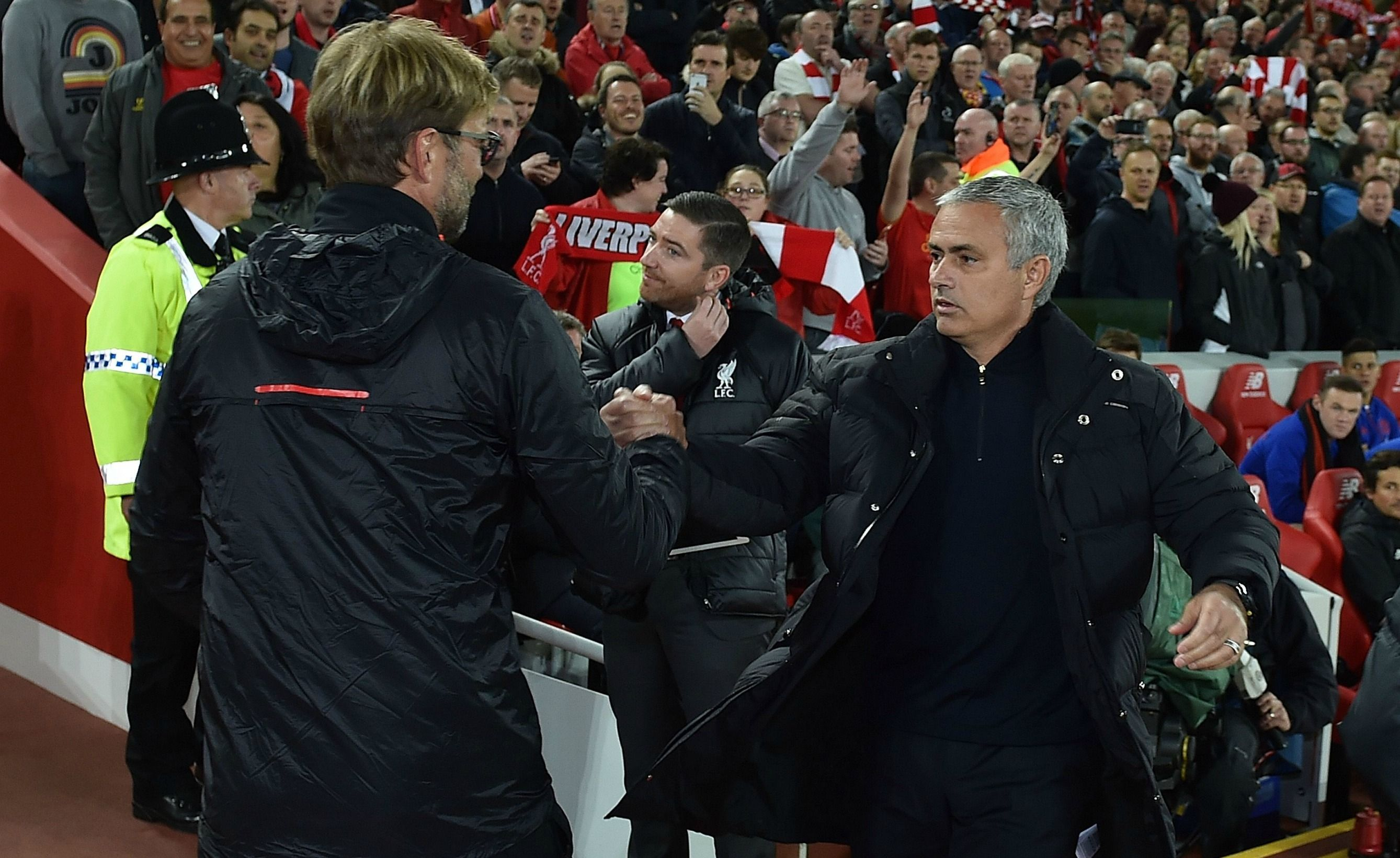 Jurgen Klopp (left) and Jose Mourinho (right)