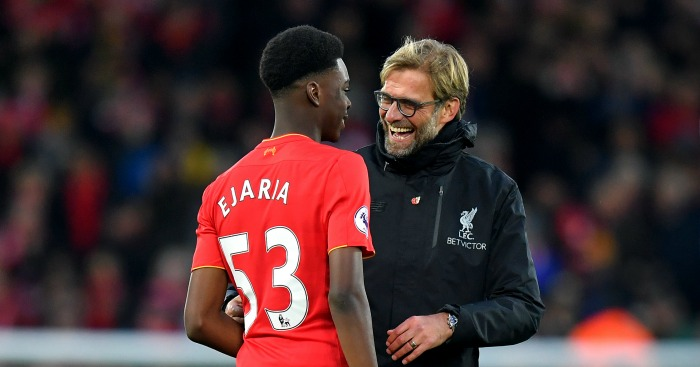 Ovie Ejaria and Jurgen Klopp