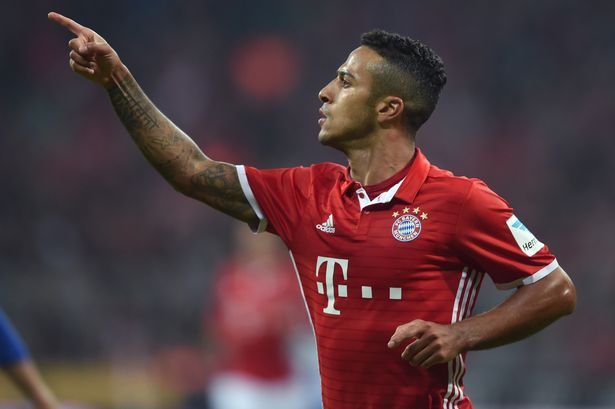 Bayern Munich Thiago Alcantara wants to join Liverpool