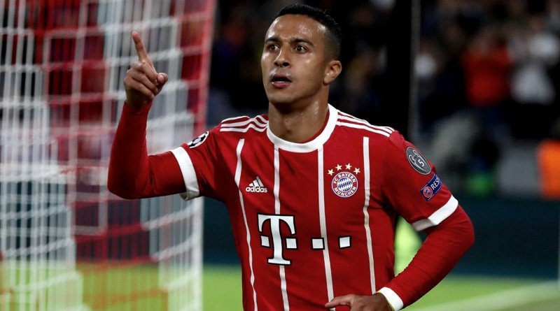 Liverpool target Thiago has less than twelve months left on his contract