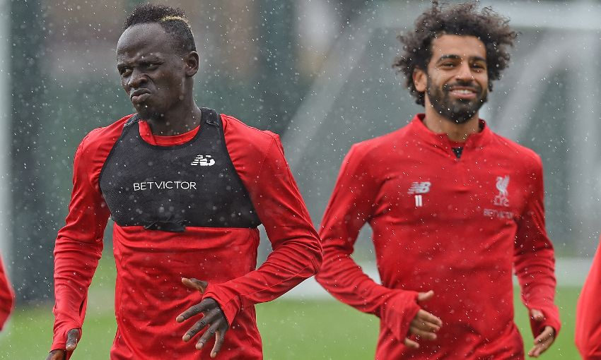 Mohamed Salah and Sadio Mane of Liverpool