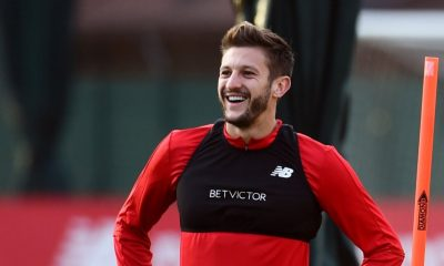 Adam Lallana Liverpool training