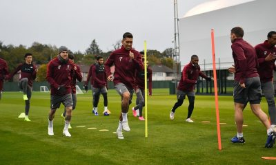 Liverpool team training