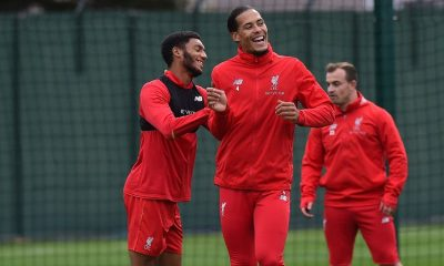 Virgil van Dijk & Joe Gomez of Liverpool