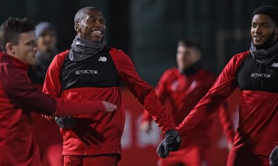 Daniel Sturridge Joe Gomez Liverpool training