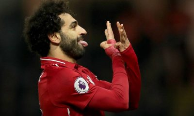 Mohamed Salah celebrates against Watford