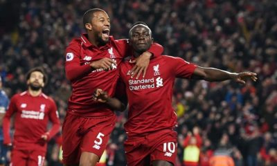 Sadio Mane and Georginio Wijnaldum Liverpool