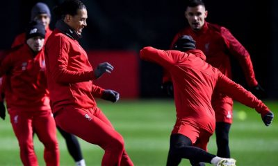 Liverpool players training