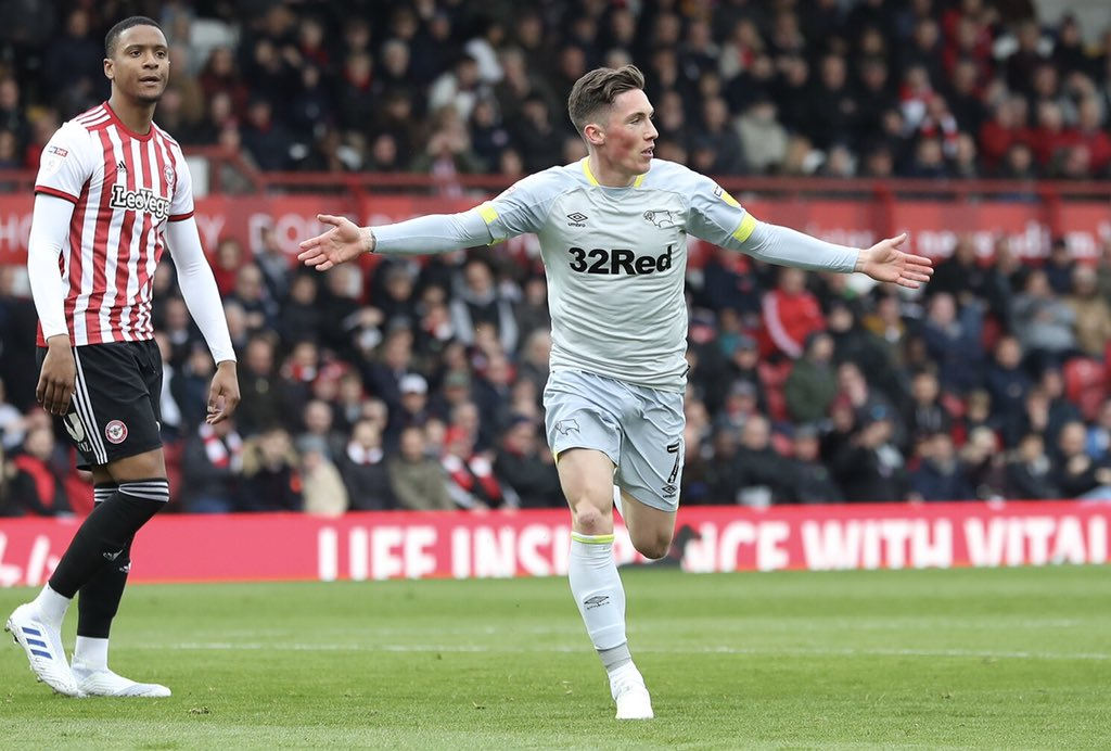 Harry Wilson scores for Derby