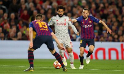 Mohamed Salah against Barcelona