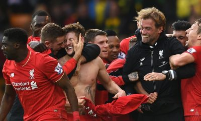 Jurgen Klopp and Liverpool players
