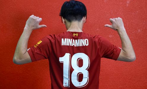 Minamino joined Liverpool in January