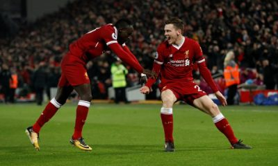 Sadio Mane and Andrew Robertson