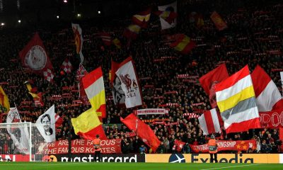Around 3000 travellng fans were in attendance at Anfield