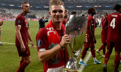 Harvey Elliott has been fast tracke dinto the Liverpool first team