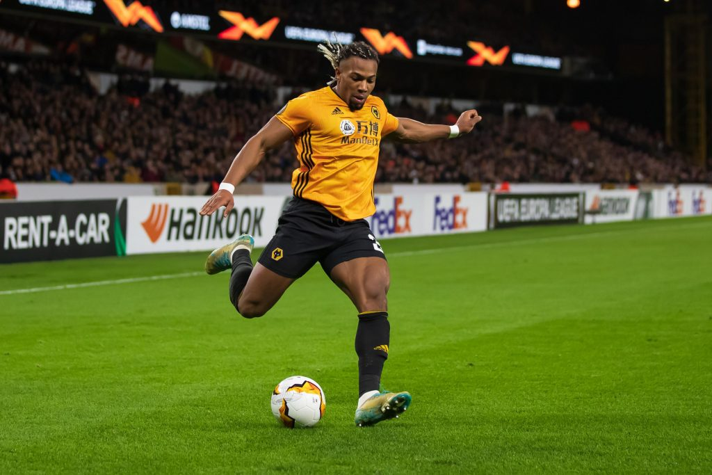 Adama Traore of Wolves is on the transfer wishlist of Chelsea, Leeds United, Liverpool, Manchester City, and Man United.