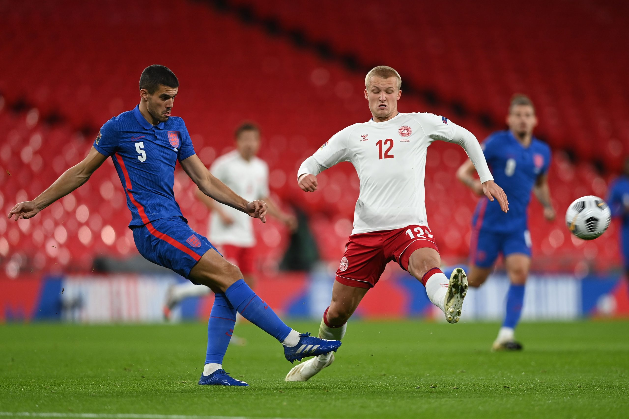 Conor Coady in action for England