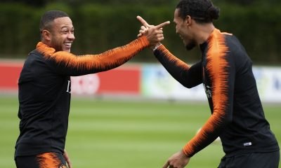Memphis Depay and Virgil van Dijk are teammates for the Dutch national side