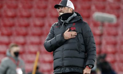 Jurgen Klopp thanks the fans at Anfield. (GETTY Images)
