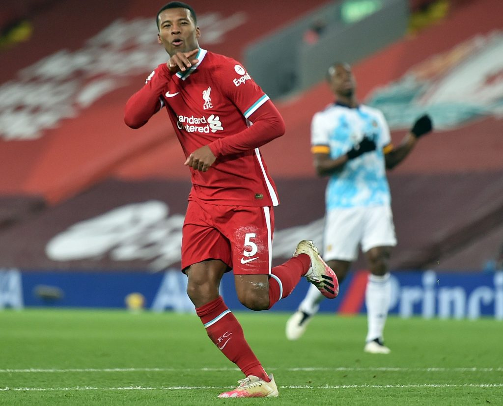 Georginio Wijnaldum has chosen to remain silent over talks of a new contract at Liverpool. (GETTY Images)