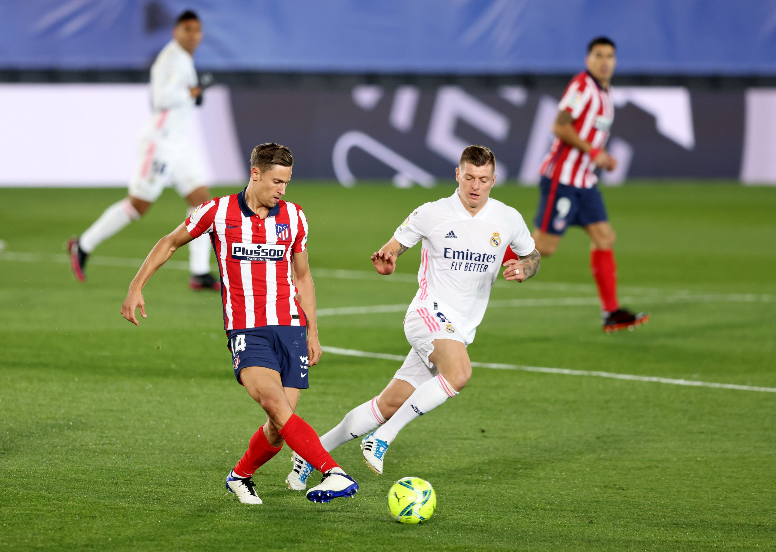 Llorente in action against Real Madrid in la Liga. (GETTY Images)