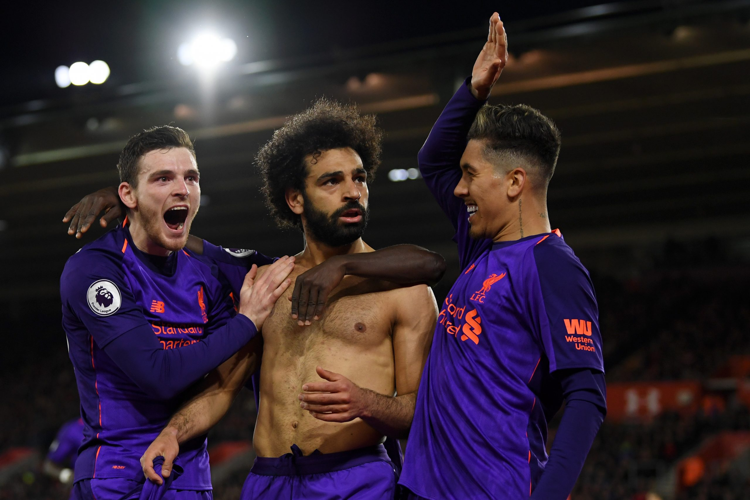 Andy Robertson says that Firmino, Mane, Salah, and Jota have a special relationship. (GETTY Images)