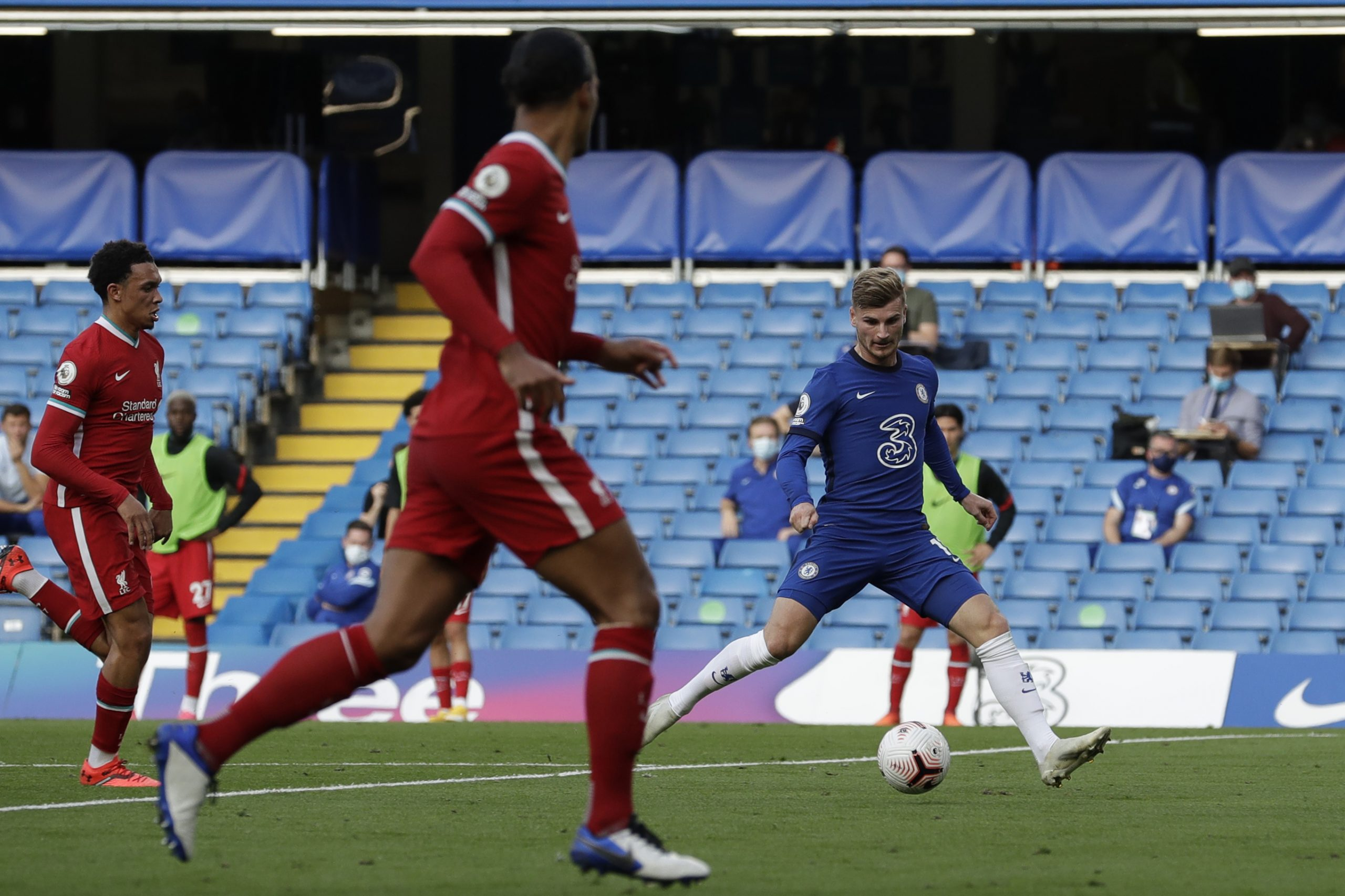 Timo Werner in action for Chelsea against Liverpool. (GETTY Images)