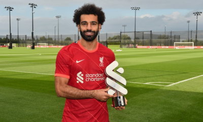 Mohamed Salah is the Liverpool Standard Chartered Player of the Month for August.