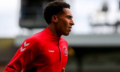 James Hill before the 2021/22 pre-season friendly match between Fleetwood Town and Leeds United.